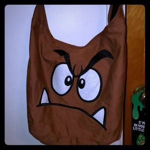 Nintendo Super Mario Bros Goomba shoulder bag.
